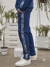 retainer tape sweat pants (cobalt blue)