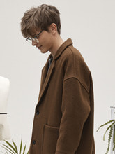 hoist over long coat (brown)
